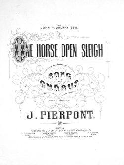 Copertina dell'edizione originale di One horse open Sleigh