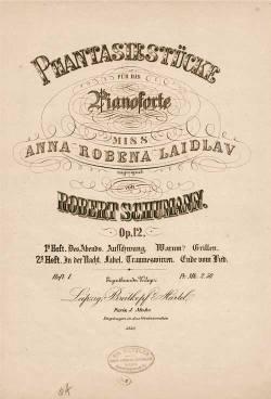 Phantasiestücke Op. 12 di Robert Schumann - frontespizio prima edizione