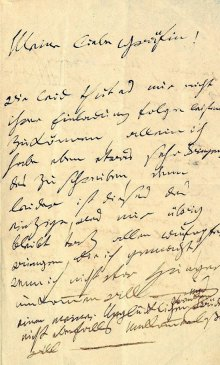 La lettera autografa di Beethoven a Giulietta Guicciardi