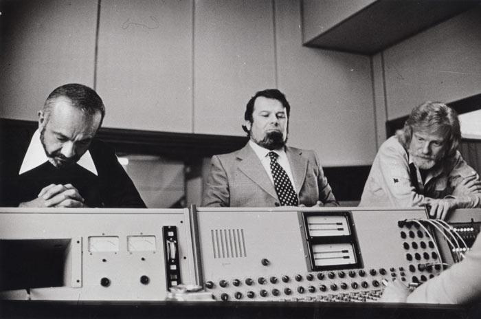 Studio Mondial Sound Milano durante la registrazione del disco di Piazzolla e Mulligan