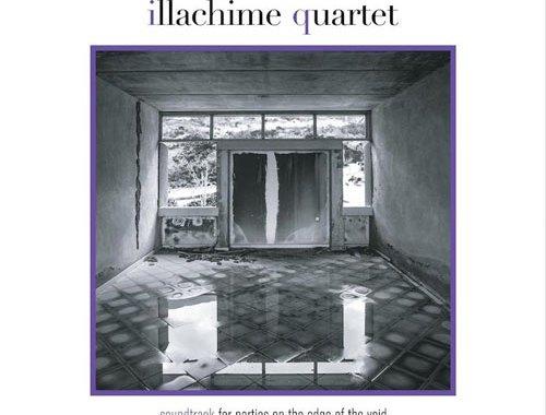 Copertina del disco di Illachime Quartet con una stanza vuota e sulla parente in fondo una finestra grande