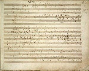 Manoscritto della Sesta Sinfonia di Beethoven