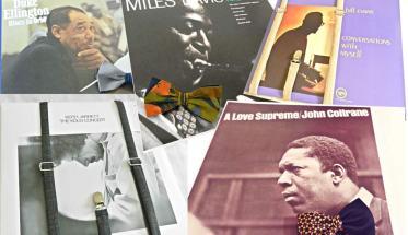 le copertine di 5 vinili jazz