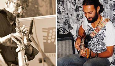 Alberto La Neve al sax e Francesco Mascio alla chitarra