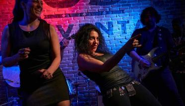 La cantante Arianna Antinori durante un live