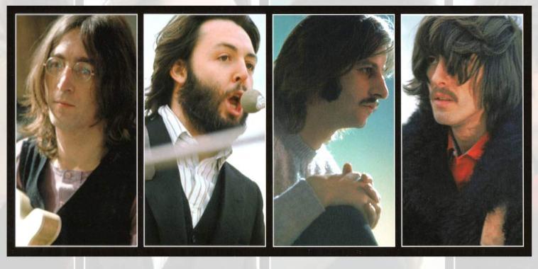 I volti dei 4 componenti dei Beatles