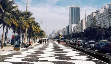 Copacabana mosaico e palme