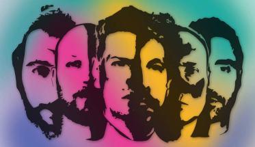 La band Nonnon in un disegno a colori