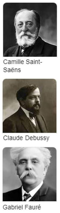 Saint-Saens, Debussy, Faure