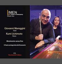 Mareggini e Uchimoto nella copertina del disco Il Flauto protagonista del Novecento