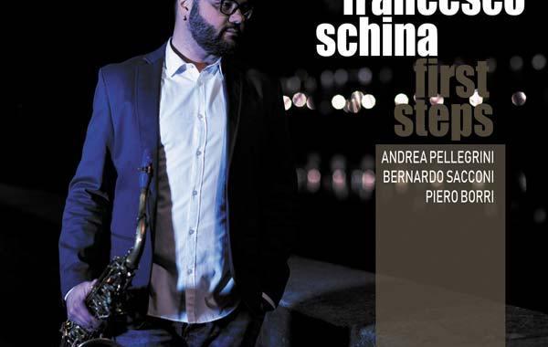 Francesco Schina nella copertina del suo disco First Steps