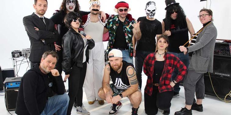I membri della band di Francesco Tirelli