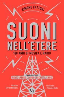 copertina rossa con un ponte radio sul libro SUONI NELL'ETERE
