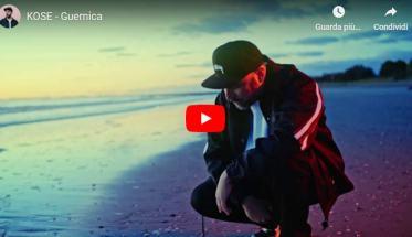 KOSE in riva al mare in copertina del video di Guernica
