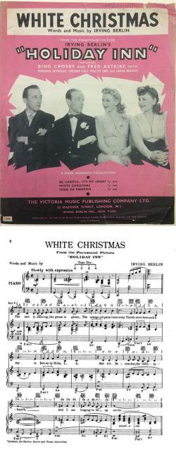 Copertina e prima pagina dello spartito di White Christmas del 1942