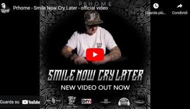 Prhome in copertina del video Smile Now Cry Later