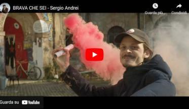 Sergio Andrei in copertina del video Brava che sei
