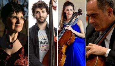 I Direttori artistici di Suoni in Movimento: Elena Ballario, Tommaso Fiorini, Camilla Patria, Sergio Patria