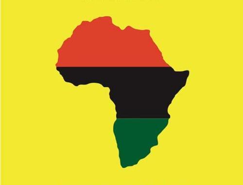 la cartina dell'Africa in copertina del disco di Roberto Zanetti 4Tet, Mother Afrika