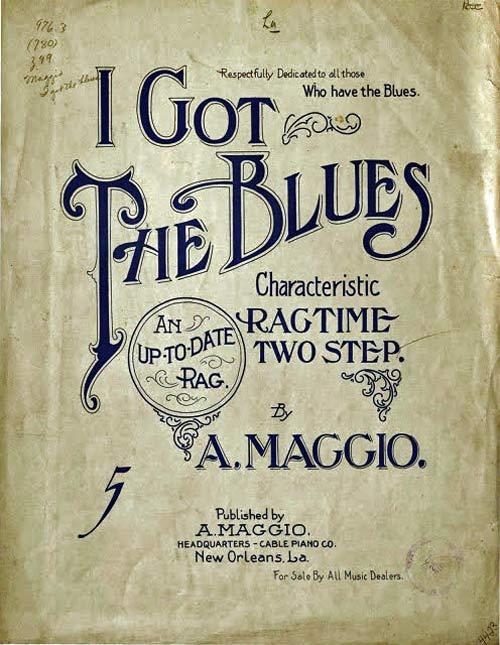Copertina spartito di I got the Blues di Antonio Maggio
