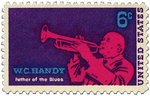 """Il francobollo dedicato a Wc Handy """"father of blues"""""""