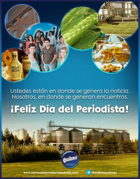 Saludo de Cervecería Quilmes