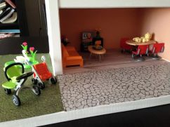 maison playmobil salon