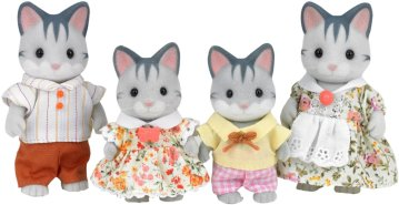 Famille chat gris 22€74