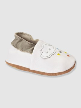 chaussons cuir 18€95