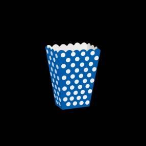 boite pop corn bleu
