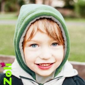 capuchon-enfant-zoli-vert-gris