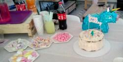 anniversaire pastel gateau bonbons