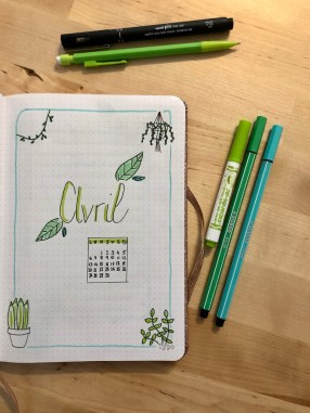 bullet journal avril