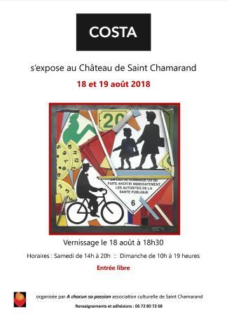 affiche expo COSTA St Chamarand