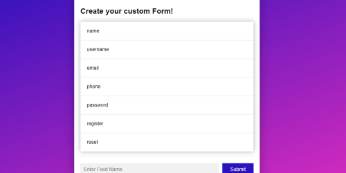 HTML Form Builder By MD Khokon - Free Download
