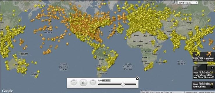 vuelos en tiempo real