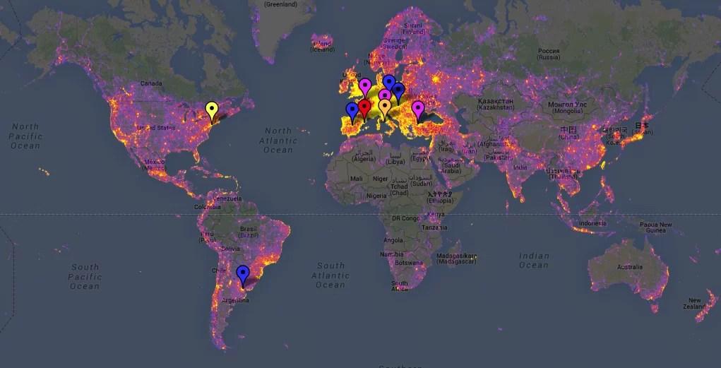 Sightmaps: los lugares más fotografiados del mundo