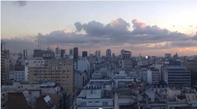 Timelapse: atardecer en Buenos Aires