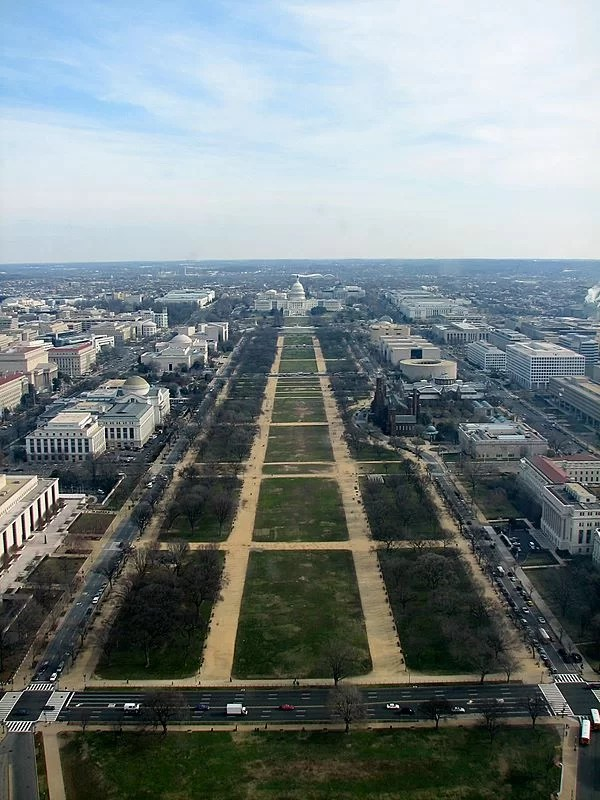 National Mall, desde el Monumento a Washington