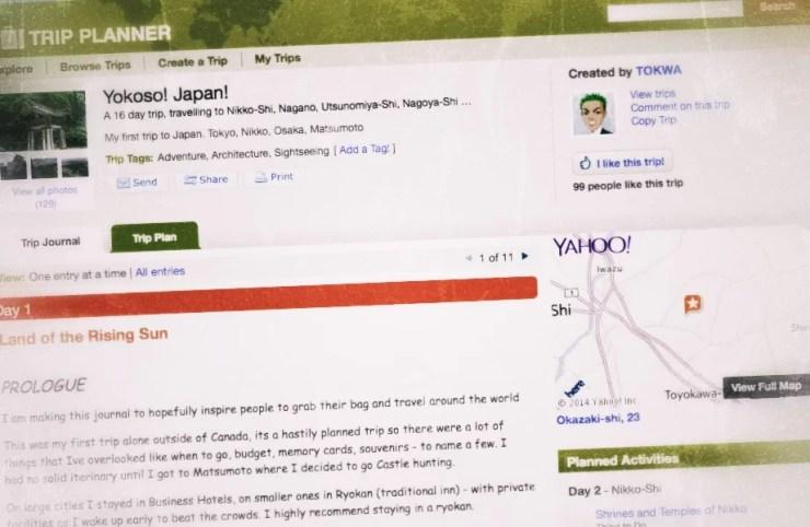 Yahoo! Trip Planner