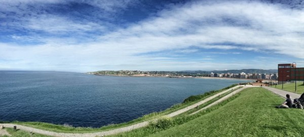 La costa en Gijón