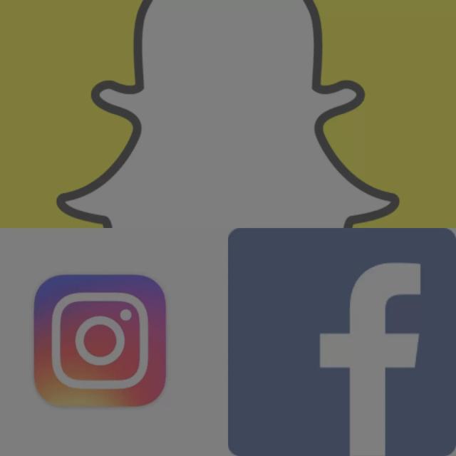 Facebook + Instagram + Snapchat