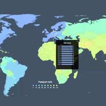 Visa restriction index 2017