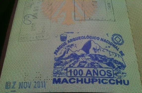 Sello de Machu Picchu