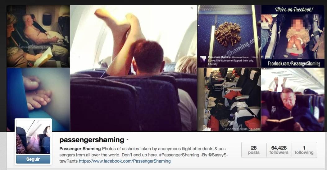 #Passengershaming: los peores pasajeros de avión, expuestos en Instagram