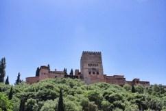 Alhambra desde Centro histórico de Granada