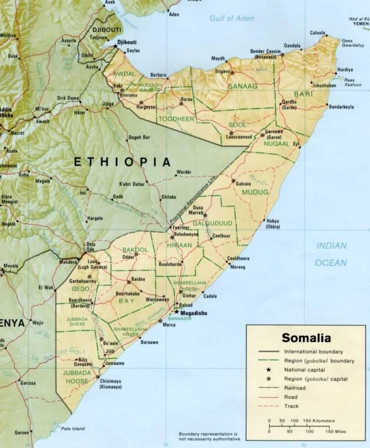 Mapa Somalia