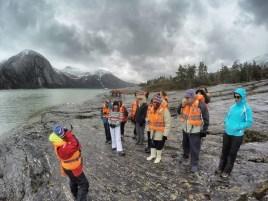 Frente al Glaciar Pía