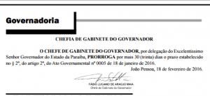 Diário Oficial: Governador prorroga prazo para renegociar dívidas e contratos do Estado