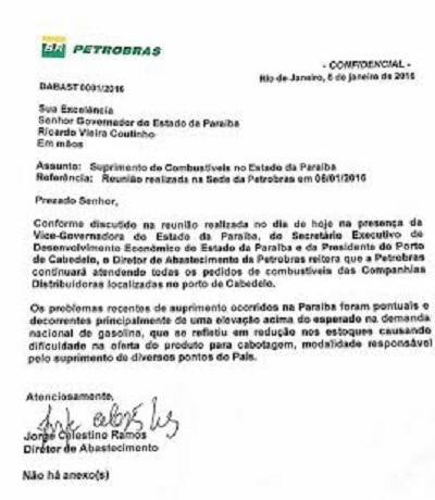 Petrobras envia ofício ao governador para esclarecer falta de combustível na PB